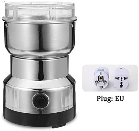 Multi-functional EU Plug 220V 150W Coffee Grinder Stainless Electric Herbs/Spices/Nuts/Grains/Coffee Bean Grinding #15,EU,