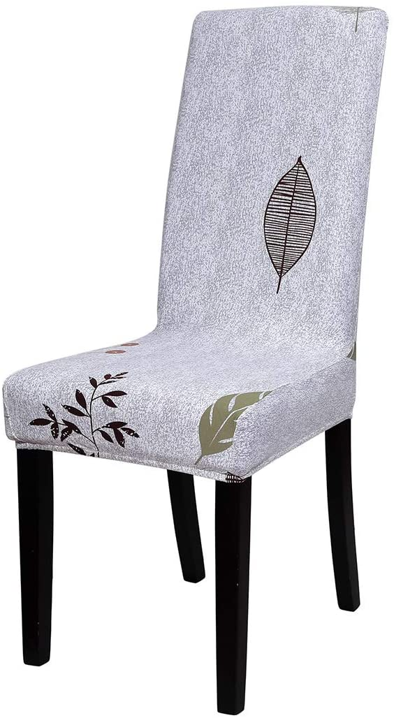 uxcell Spandex Stretch Fit Short Dining Chair Cover Slipcover,Floral Pattern Removable Washable Dining Banquet Chair Protector for Home Party Hotel Wedding Ceremony, Style 32