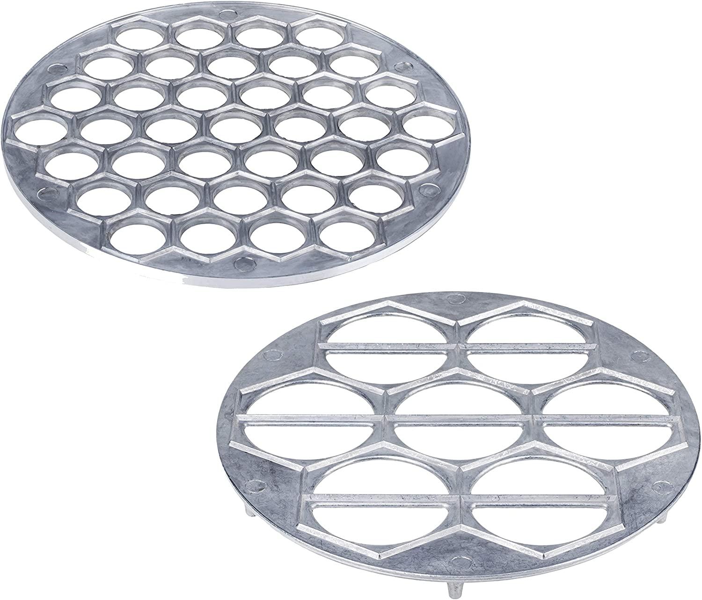Russian Pelmeni Mold - Metal Dumpling Maker - Perogi Form Hole Ravioli Molds - Pierogi Dumplings Pirogi Press