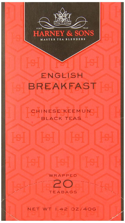 Harney & Sons Fine Teas English Breakfast - 20 Tea Bags - Net Wt. 1.26 oz