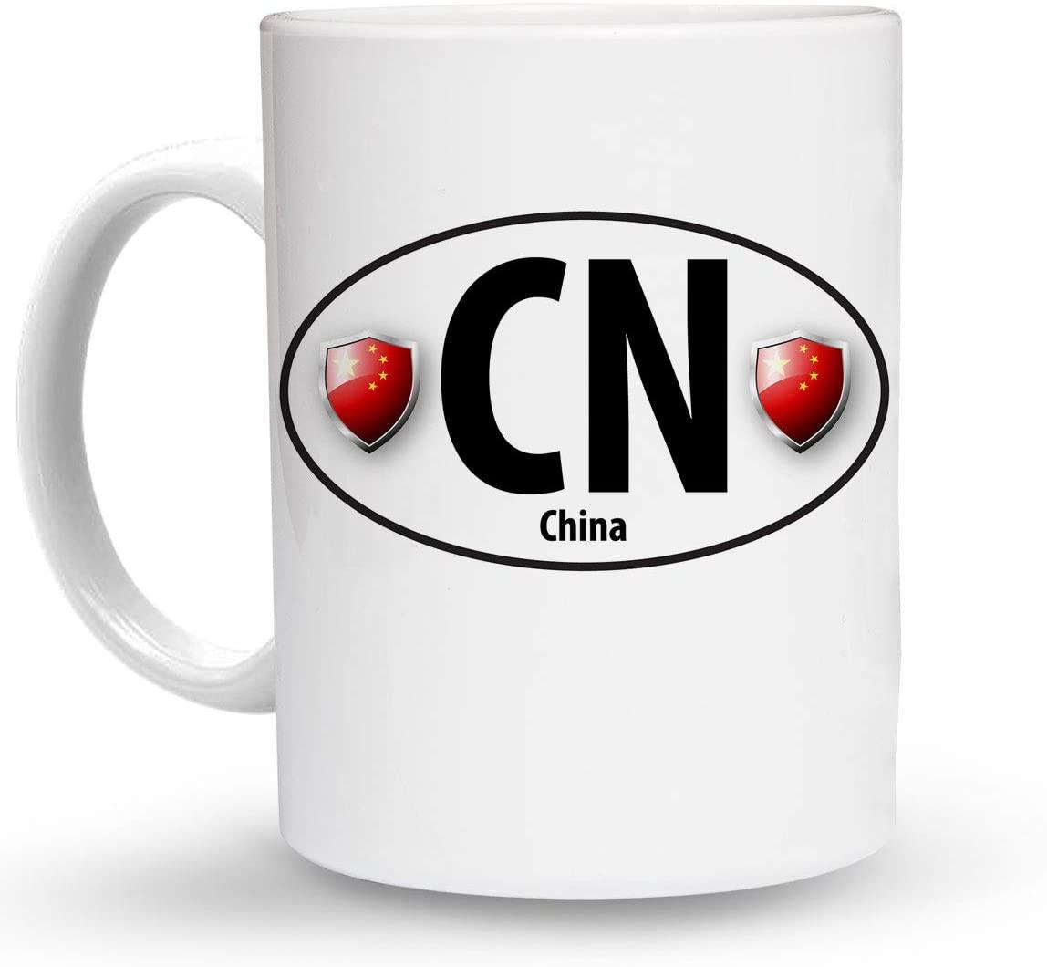Makoroni - CHINA Country Flag 6 oz Ceramic Espresso Shot Mug/Cup Design#35