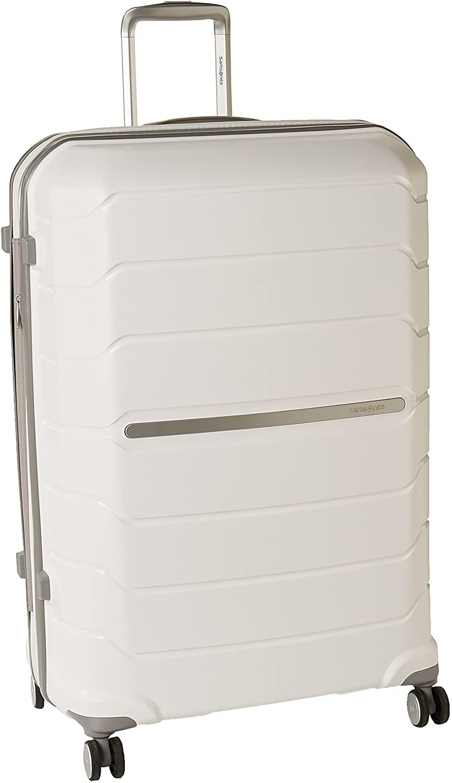 Samsonite Octolite Spinner Carry-On Luggage Large White Suitcase