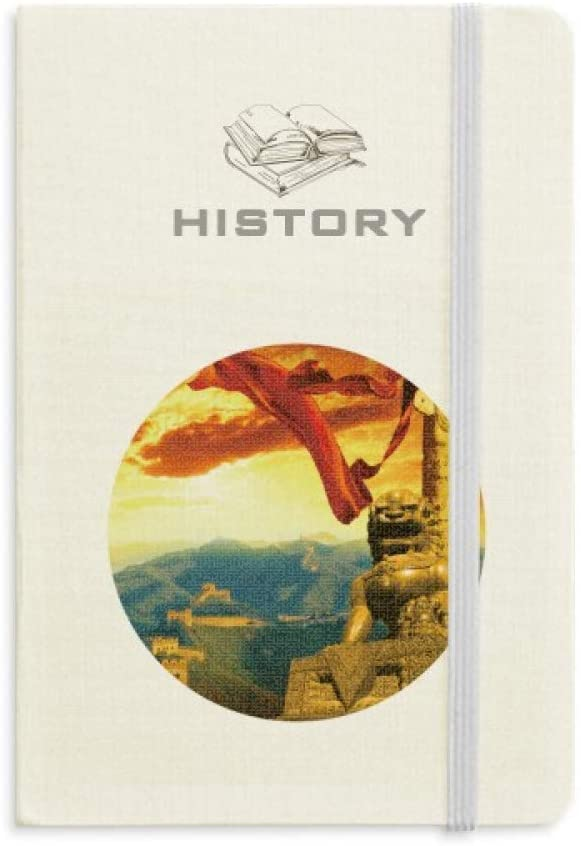 The Great Wall Lion Huabiao Ribbon History Notebook Classic Journal Diary A5