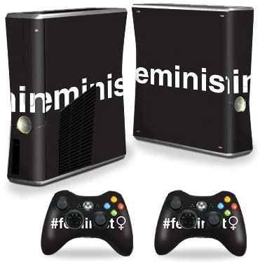MightySkins Skin Compatible with X-Box 360 Xbox 360 S Console - Feminist | Protective, Durable, and Unique Vinyl Decal wrap Cover | Easy to Apply, Remove, and Change Styles | Made in The USA