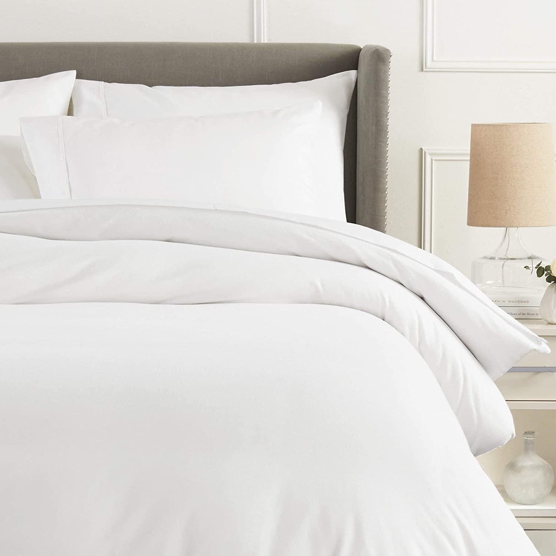 Pinzon Flannel Duvet Cover - Twin, White