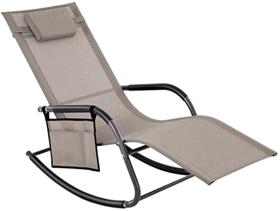ZXYY Set of 2 Folding Garden deckchairs with Umbrella and Adjustable backrest. Maximum Capacity 110 kg for Sea Pool Gray Swimming Pool