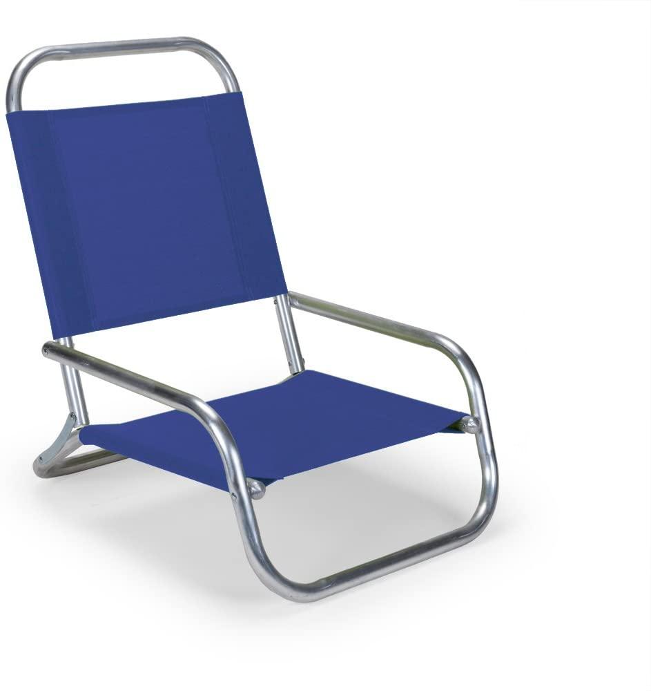 Telescope Casual Sun and Sand Chair, Aluminum Frame with Atlantis Blue Fabric