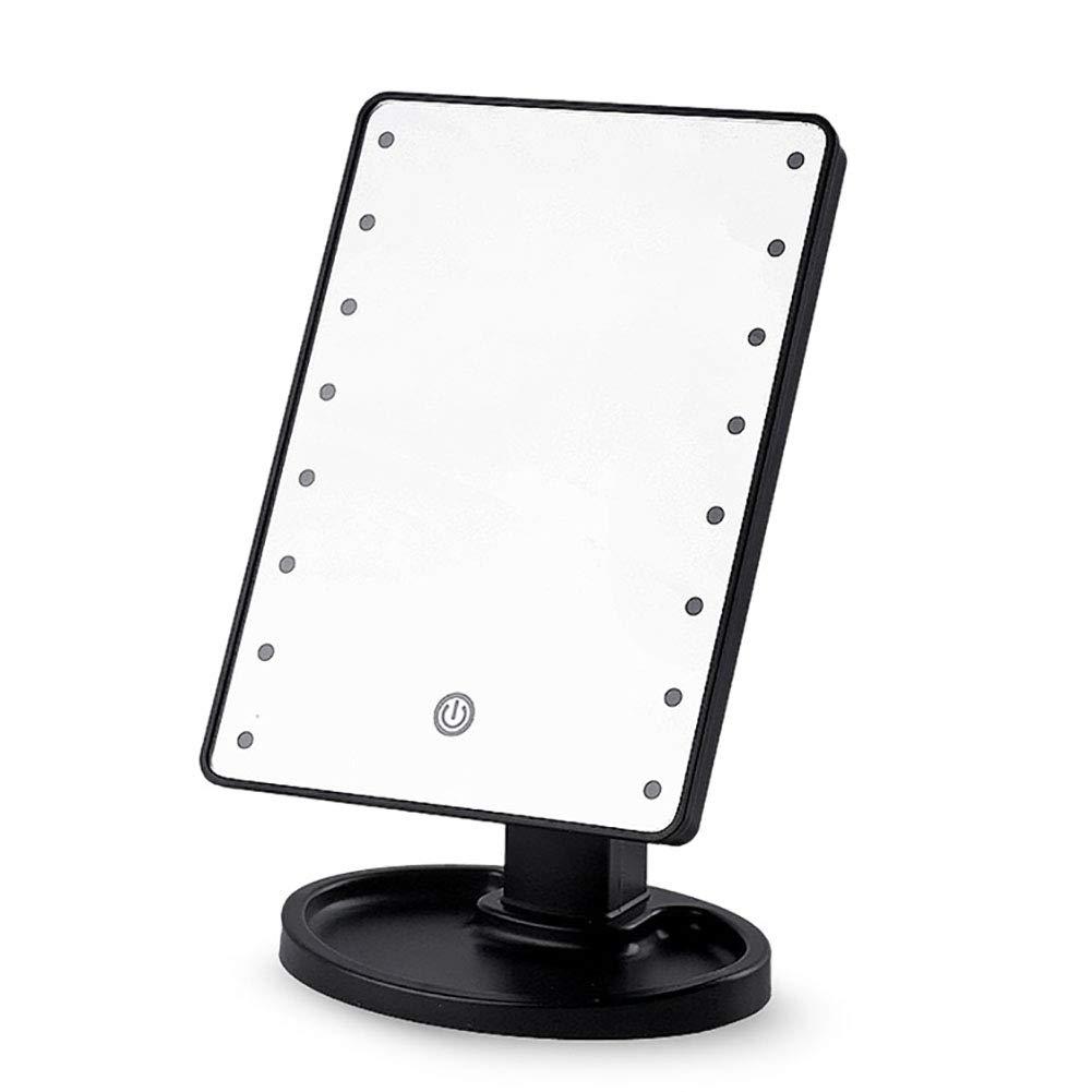 Adjustable Lighted Vanity Makeup Mirror With Led Lights, 360° Adjustable Rotation Makeup Vanity Mirror-blackc 6.7x9 Inch