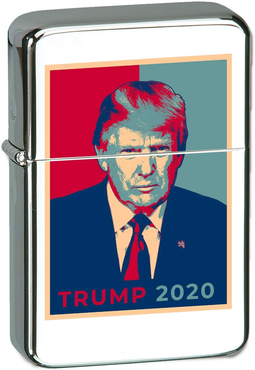 Hat Shark United States USA President Presidential Election Voting 2020 Donald Trump Republican Party White House Candidates Vector KGM Thunderbird Vintage Lighter - High Polish Chrome (Trump)