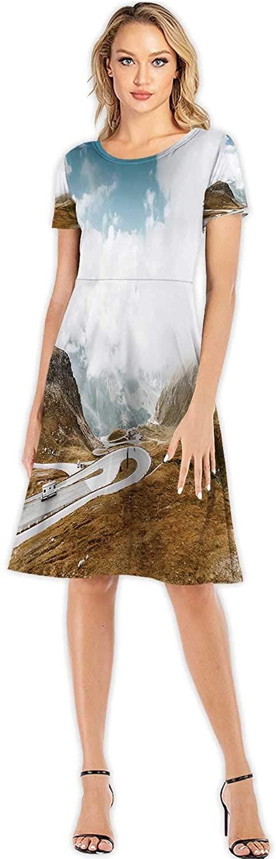 Print Illustration Ukraine,Women's Floral Maxi Dress for Beach Advice S