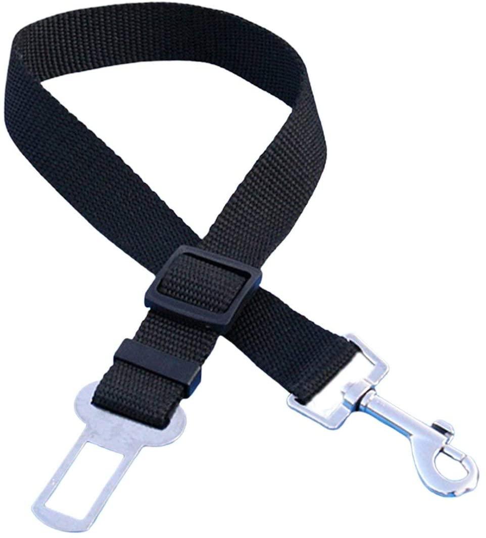 Pandamama Pet Dog Cat Car Seat Belt Adjustable Harness Seatbelt Lead Leash for Small Medium Dogs Travel Clip Pet Supplies