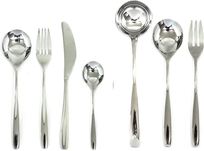 Mepra Morgana 102722051 51 Pcs Flatware Set – Metallic Tableware, Dishwasher Safe Cutlery