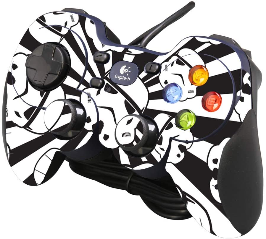 MightySkins Skin Compatible with Logitech Gamepad F310 - Trooper Storm | Protective, Durable, and Unique Vinyl Decal wrap Cover | Easy to Apply, Remove, and Change Styles | Made in The USA