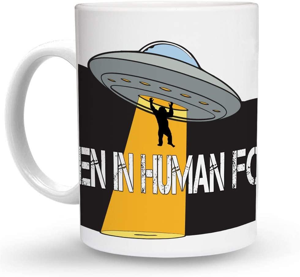 Makoroni - ALIEN IN HUMAN FORM Alien UFO 6 oz Ceramic Espresso Shot Mug/Cup Design#68
