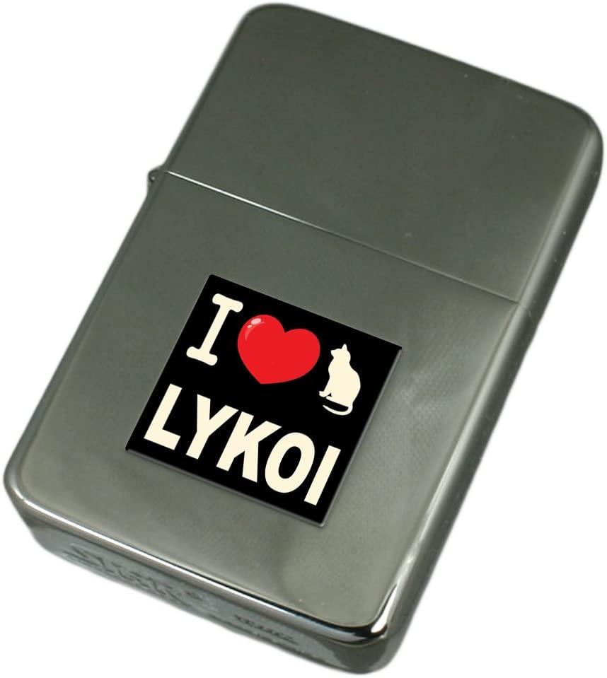 I Love My Cat Engraved Lighter Lykoi