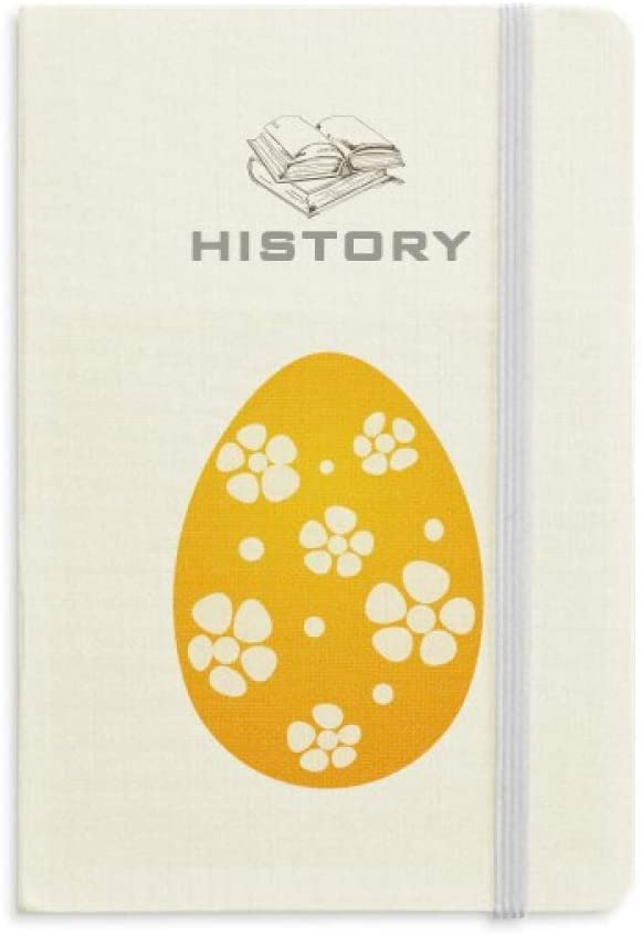 Easter Religion Festival Yellow Egg Design History Notebook Classic Journal Diary A5
