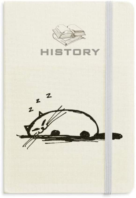 Curly Heavy Cat Smile Line History Notebook Classic Journal Diary A5