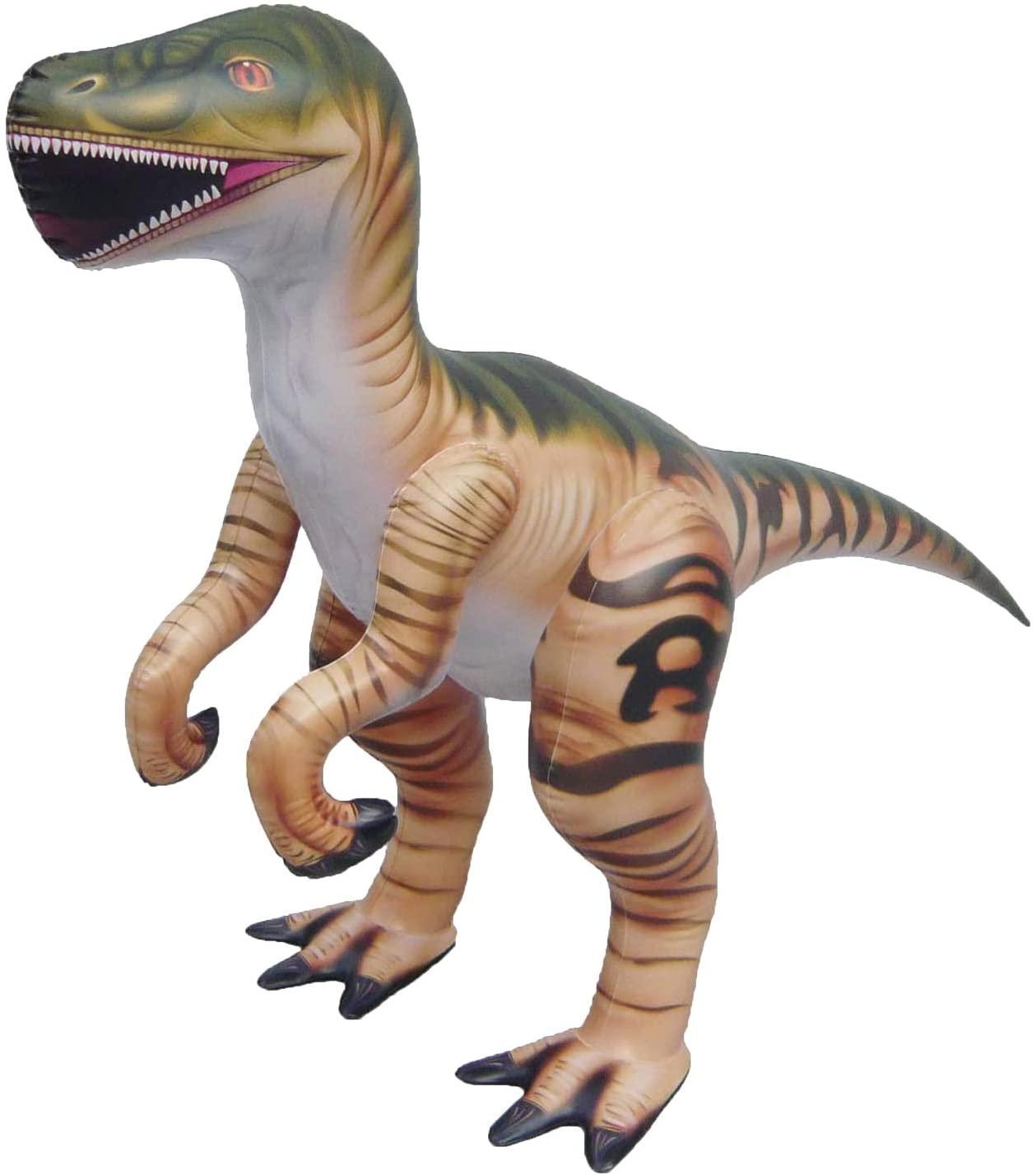 Jet Creations 51 inch Inflatable Plush Velociraptor Raptor, Dinosaur World Jurassic Room Décor Party Favors Decorations, DI-RAPTOR