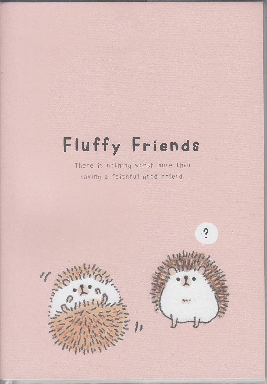 A5 Size Notebook 48 Sheets Hedgehog Fluffy Friends Light Pink