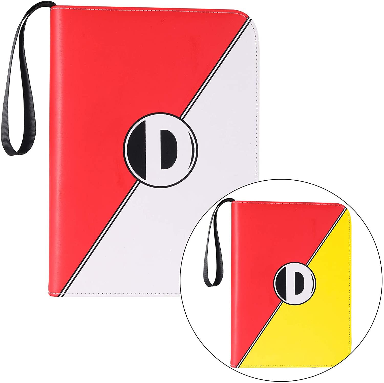 D DACCKIT 4-Pocket Binder ( Red & W ) + 4-Pocket Binder ( Red & Yellow )