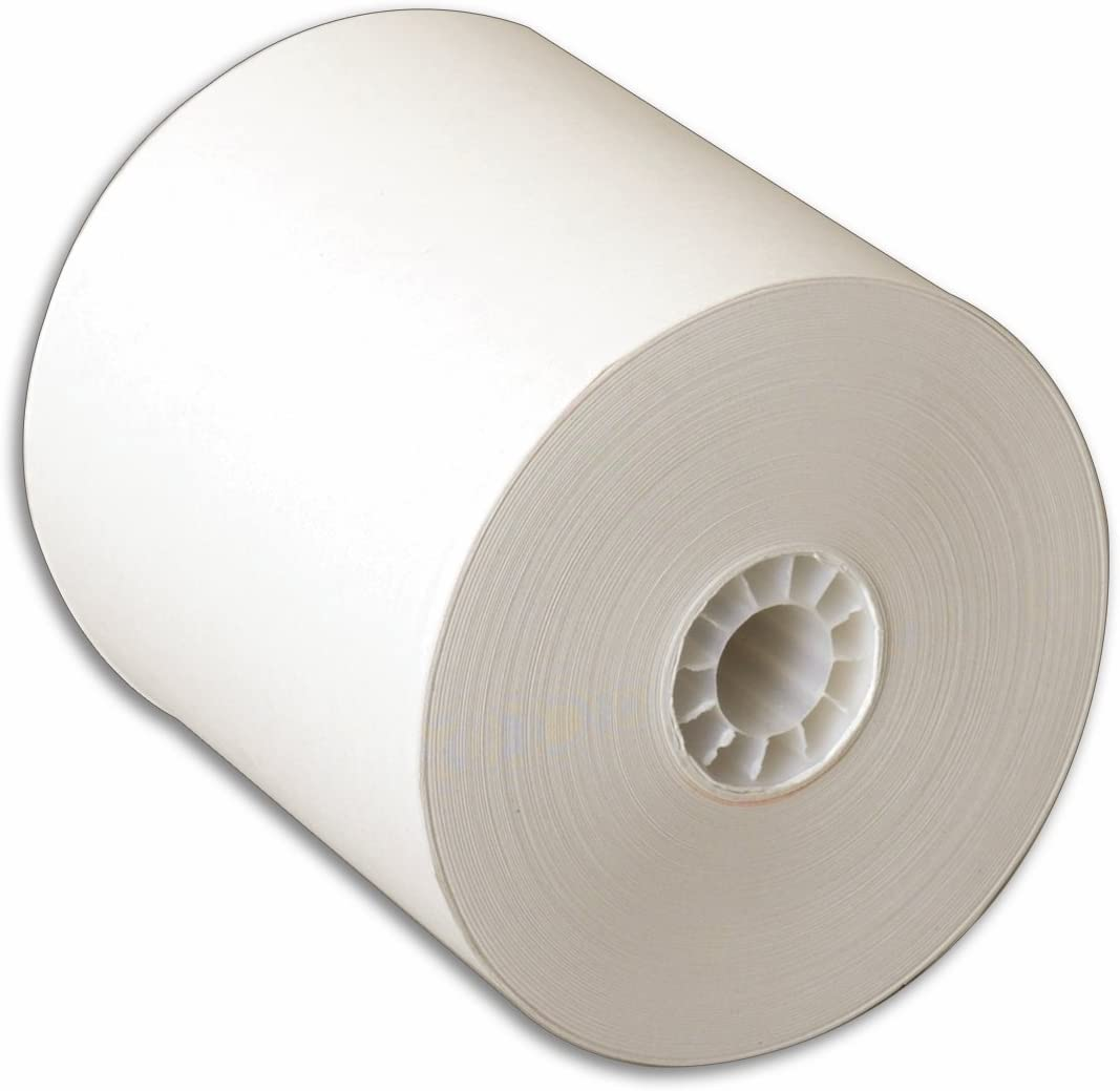 TOPS Machine Rolls, 2-1/4 Inches x 2-7/8 Inches x 150 Feet, 100 Rolls, White, (7280)