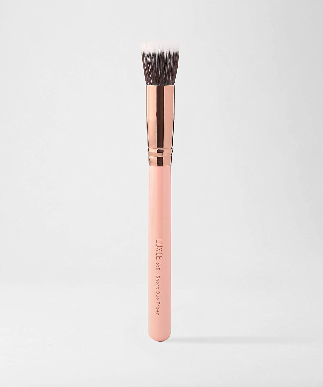 LUXIE 550 Short Duo Fibre Brush-Rose Gold