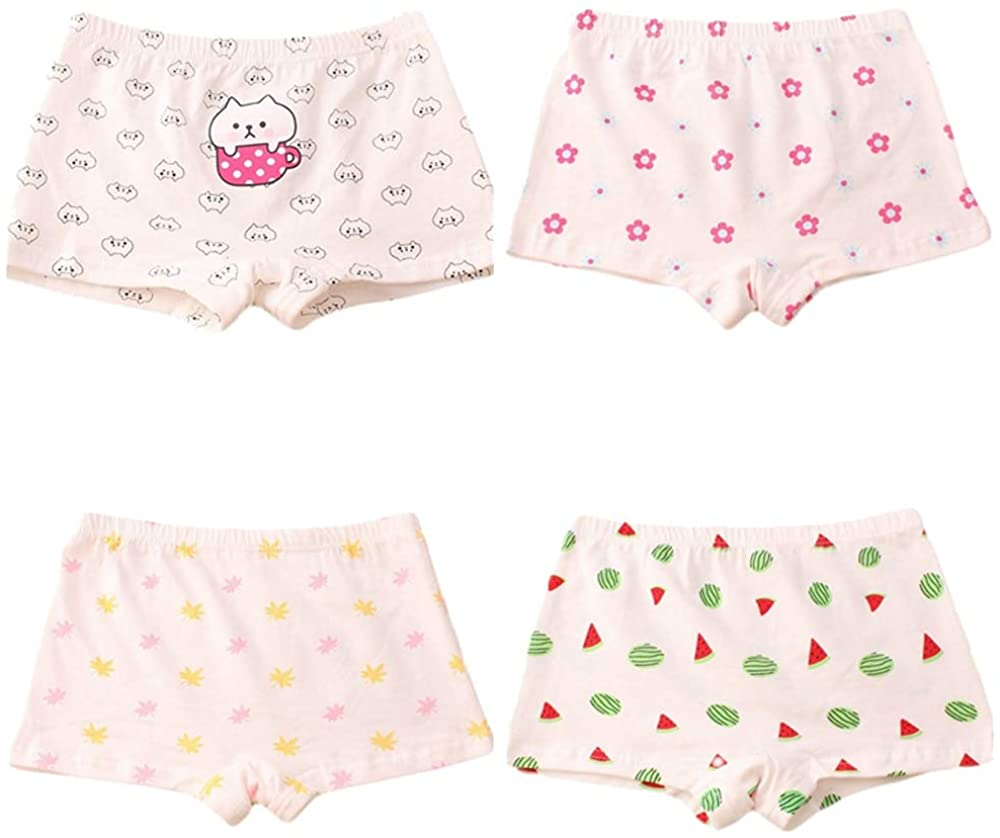 Girl Cute Underwear Panty Bundle Knickers Soft Briefs Pack of 4