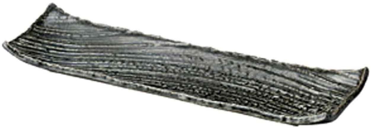 Oribe Karesansui 16.1inch Set of 5 Long Plates Black porcelain Made in Japan