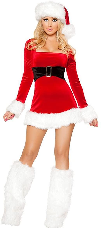 PINSE Santas Saint Women Christmas Halloween Costume