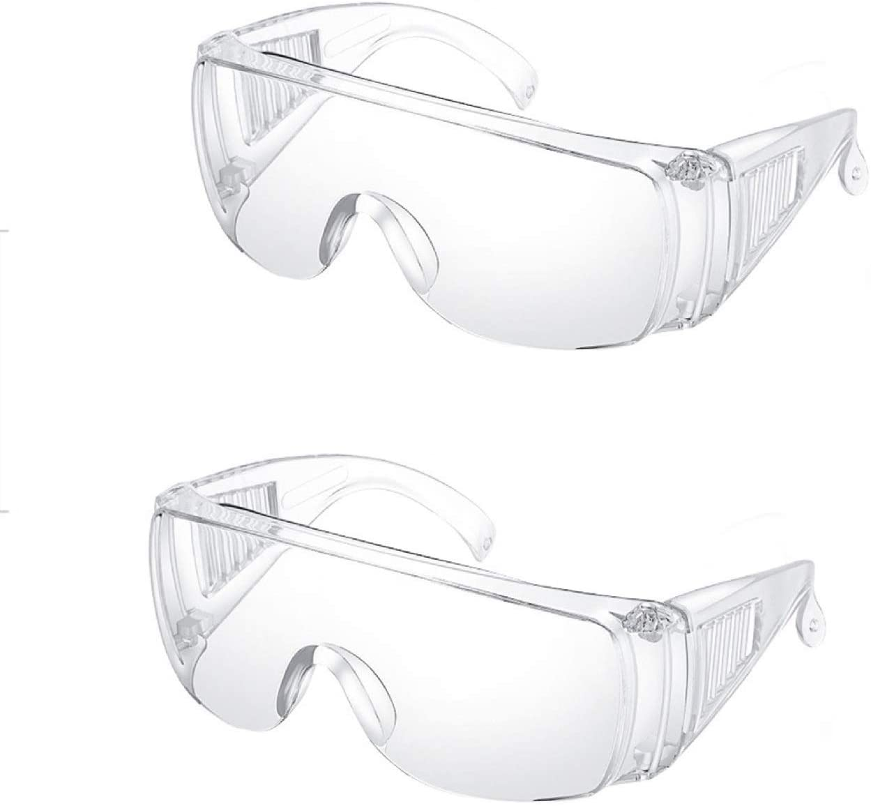 100 PCS Safety Goggles Glasses, Personal Protection, Crystal Clear Lens Wide-Vision Adjustable, Dust-Proof Breathable Glassess