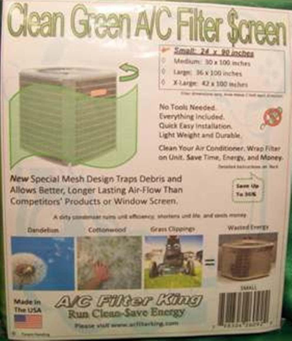 Clean Green A/C Filter $creen Sm