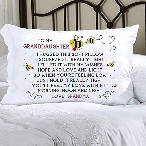 youngstylescloth to My Granddaughter Youll Feel My Love in Morning Noon Night Love Grandma Pillow Case 21 x 31 (21 x 31)