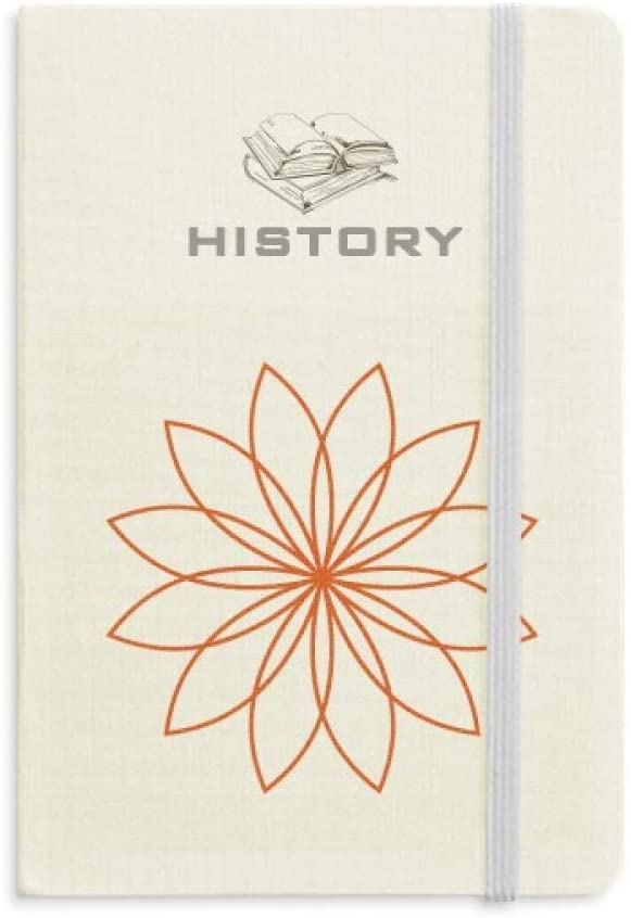 Flower Line Plant Flower Pattern History Notebook Classic Journal Diary A5