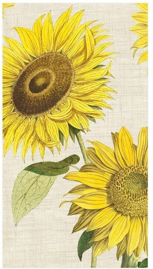 Caspari Under the Sun Paper Guest Towel Napkins - 15 Per Package
