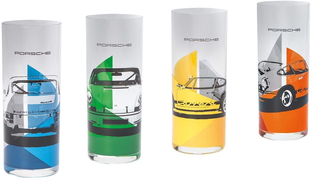 Porsche RS 2.7 Tall Drinking Glasses - Set of Four