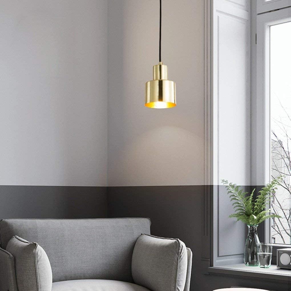 BOSSLV Metal Pendent Lamp Modern Minimalism Bar Hall Hanging Lamp Parlor Dining Hall Bedchamber Study Ceiling Lighting Elegant Round Iron Decorative Chandelier 10CmH15Cm E27