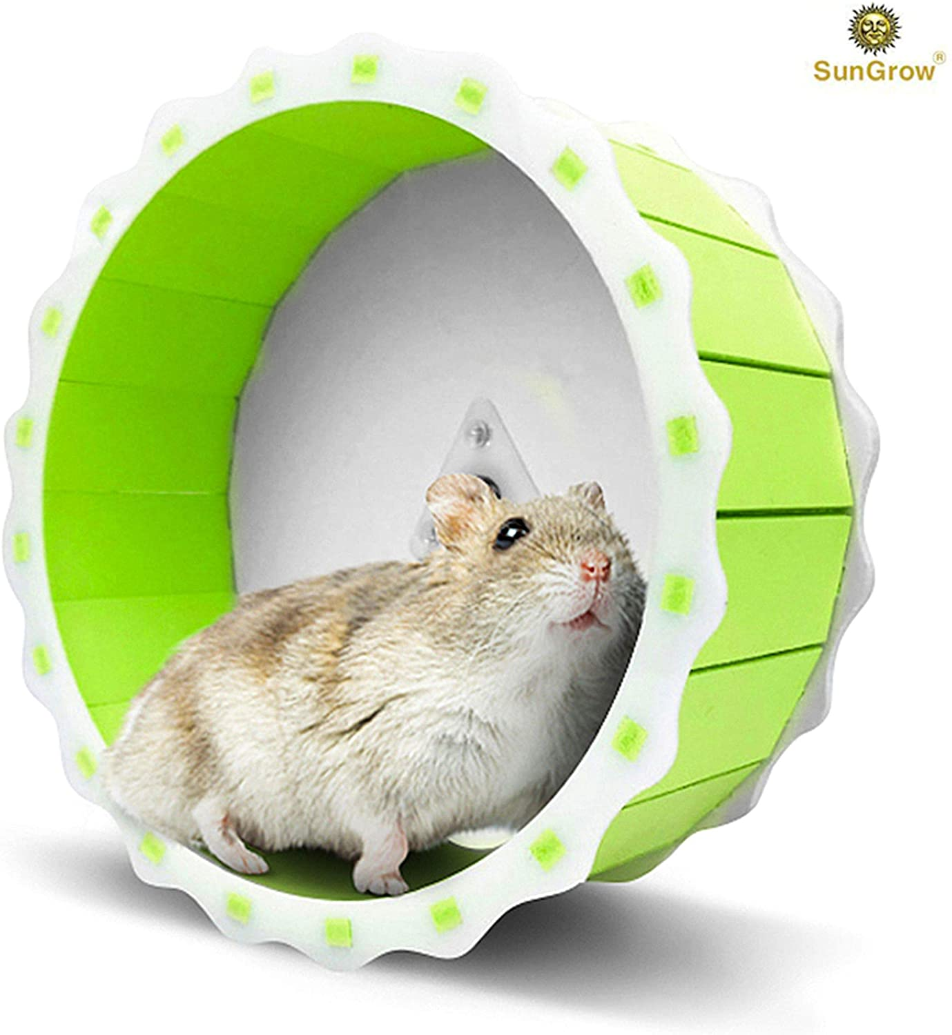 """Hamster Spinner Wheel, Quiet Exercise Toy, Installation in Less Than 5 Minutes, Keeps Small Pets Active & Entertained, Durable PVC Plastic Material, 6.7"""" Diameter Fits Hamsters, Gerbils & Mice"""
