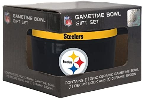Pittsburgh Steelers NFL 23 oz Gametime Ceramic Bowl Spoon Gift Set