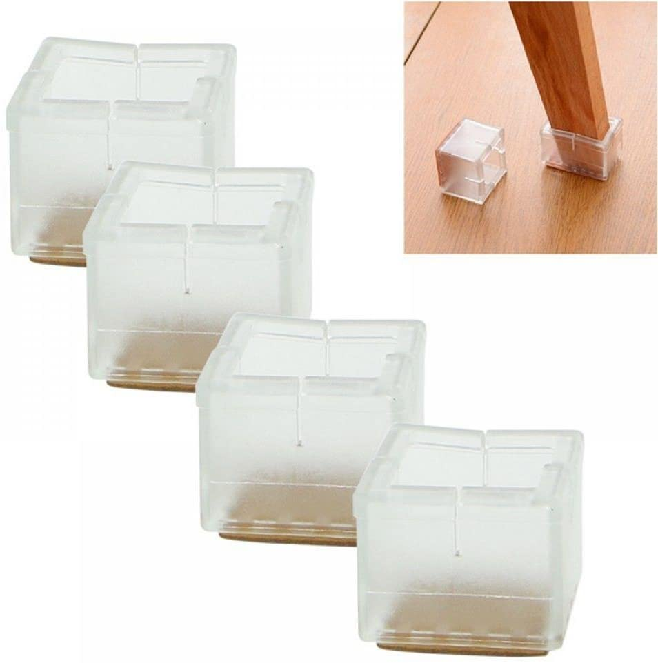 maxgoods Chair Leg Protectors,12 Chair Leg Floor Protectors Leg Caps, Wood Furniture Table Chair Feet Protectors
