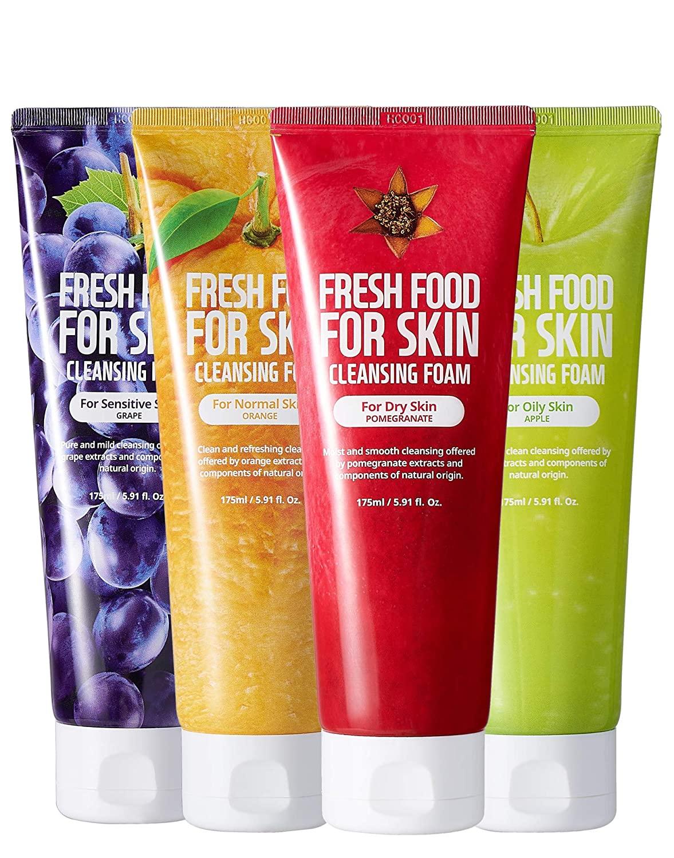 FARMSKIN Freshfood For Skin Cleansing Form 4 Set Bundle 175ml / 5.91 fl. oz