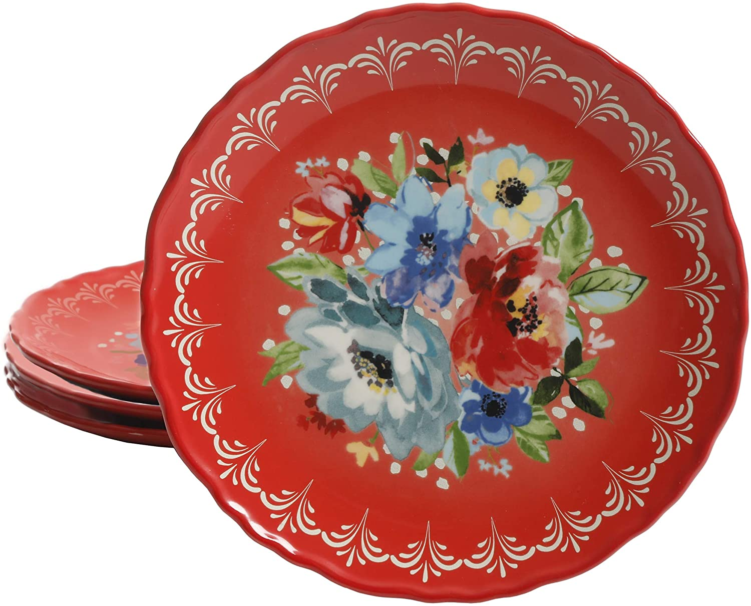 The Pioneer Woman Melody 8.75-Inch Salad Plates, Set of 4