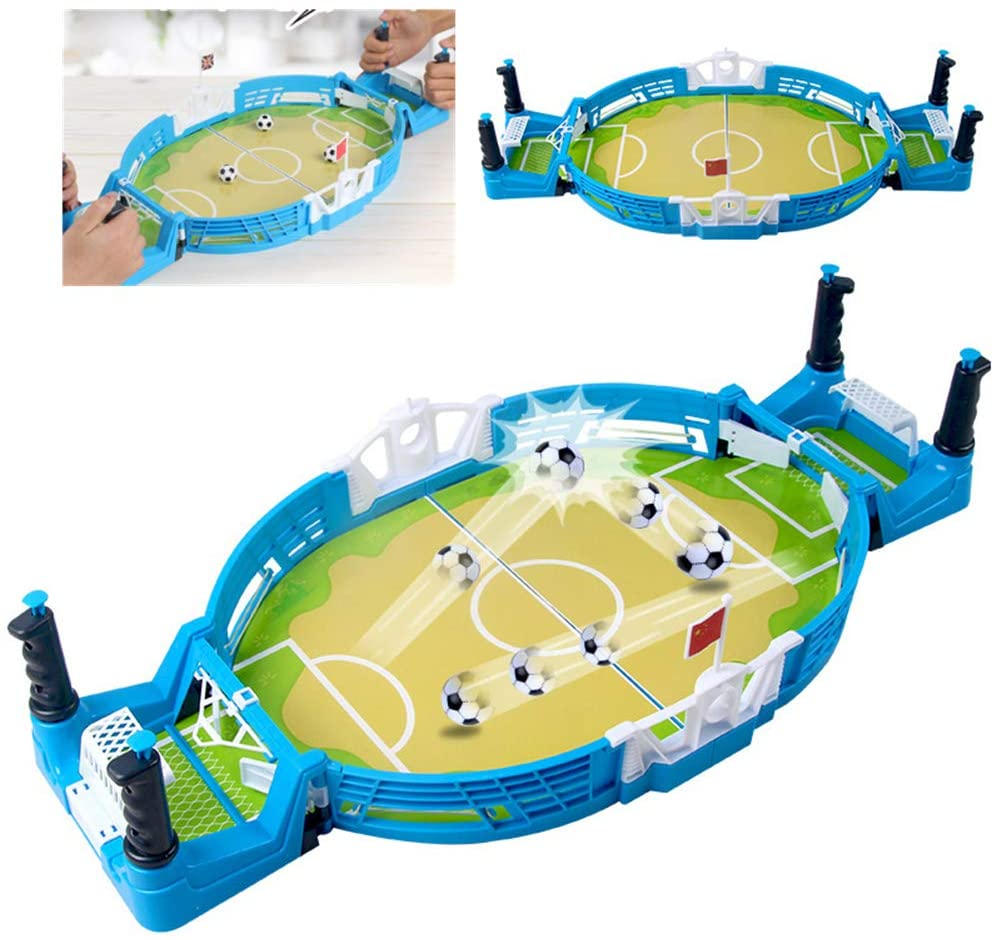 WOAIM Mini Foosball Table Tabletop Soccer Game Double Players Family Party Interactive Toy Educational Toy for Boys Girls Sport