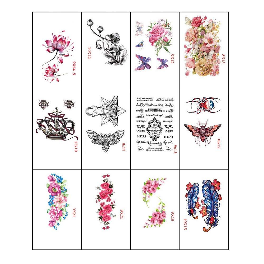 Tattoo stickers - chest tattoo stickers/rose peach lotus squid tattoo stickers/personality trend adult tattoo stickers