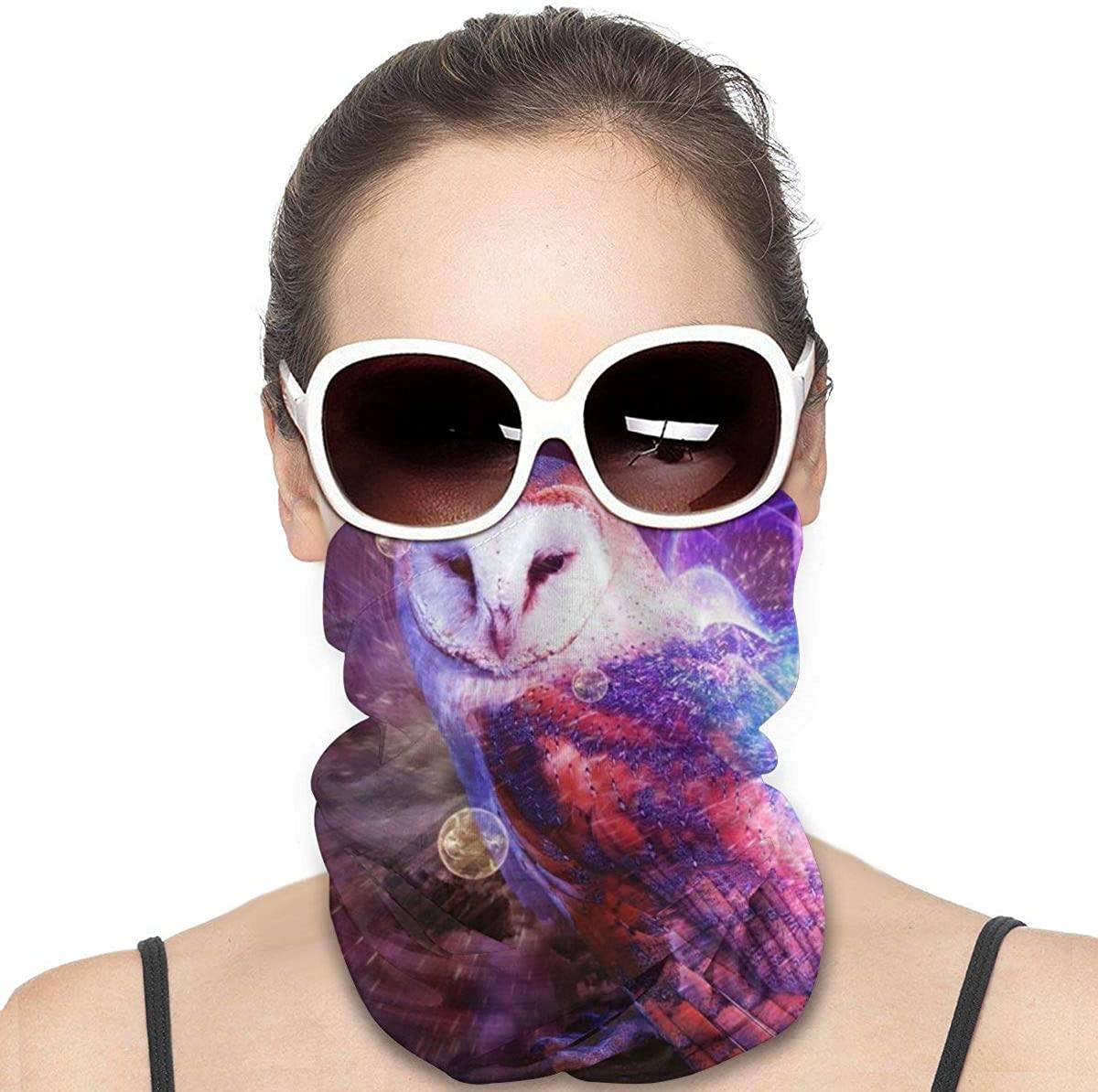 Space Galaxy Pink Elephant Headwear Headband Multifunctional Scarf Bandana Face Mask for Women Men
