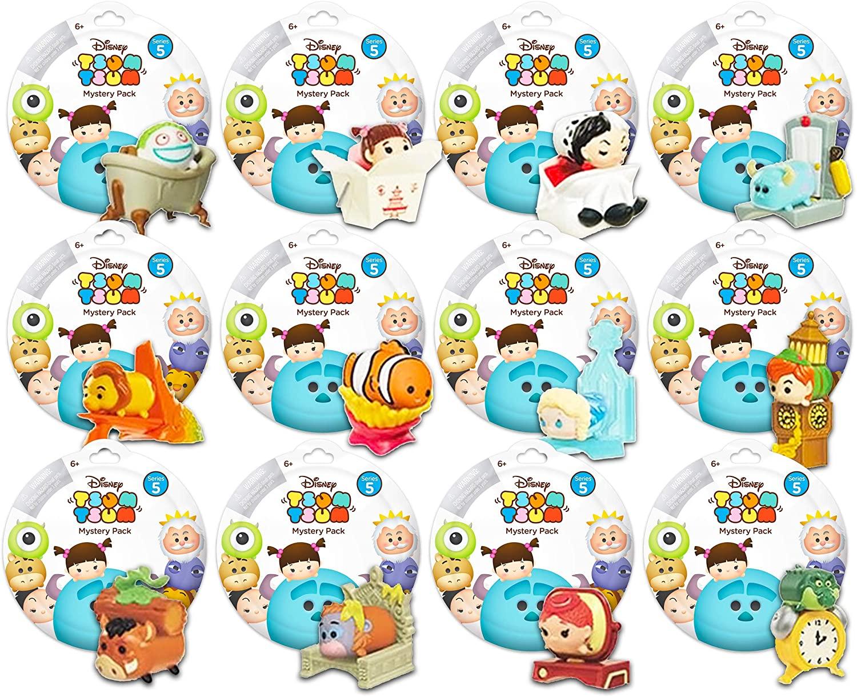 Tsum Tsum Mystery Disney Pack Set -- Bundle Includes 12 Tsum Tsum Series 5 Blind Bags for Kids Boys Girls (Disney Party Favors)