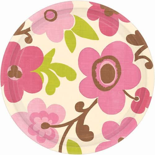 plate 7 inches linen floral (eco)