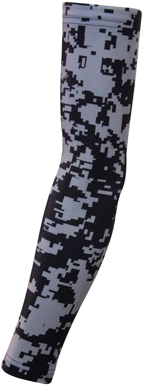 Sports Farm New Black & Gray Digital Camo Arm Sleeve