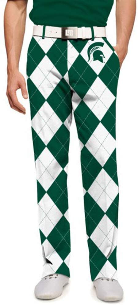 Loudmouth Golf Men's Michigan State Sparty Size 38/32 Golf Pants