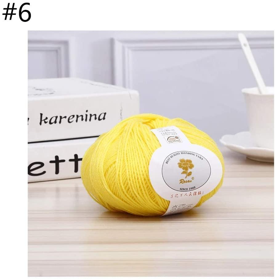 minansostey 50g Soft Acrylic Fiber Thread Cashmere Wool Yarn DIY Handmade Knitting Crochet Baby Scarf Hat