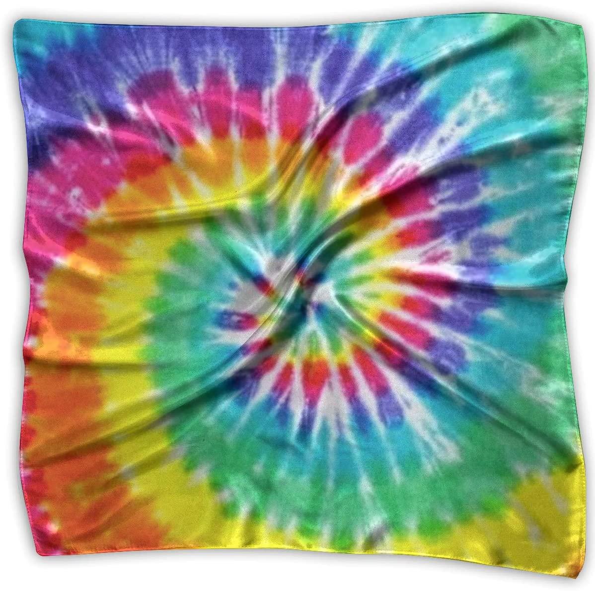 WFIRE Tye Dye Square Handkerchiefs Scarf Shawl Bandanas Headscarf Neckerchief Tie Hair Scarf